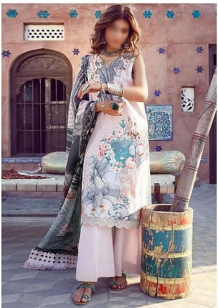 MISCELLANEOUS Kinaar Unstitiched Luxury Lawn Collection D-09