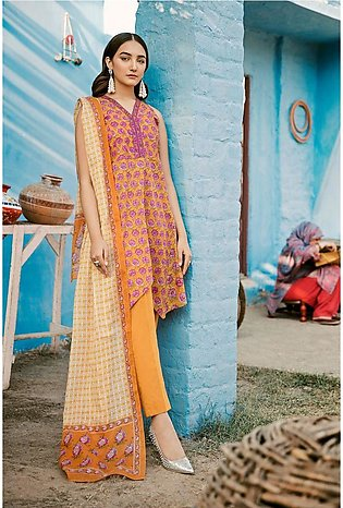 Gul Ahmed Summer Lawn20 3PC Unstitched Lawn Suit CL-804 A