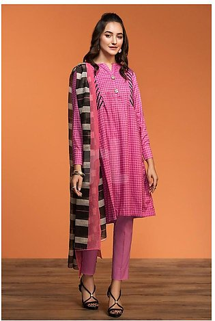 Nishat Linen Spring Summer 20 42001191-Printed Lawn Viscose Net 2PC