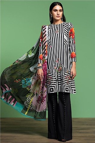 Nishat Linen Spring Summer 20 42001069-Digital Printed Embroidered Lawn, Camb...