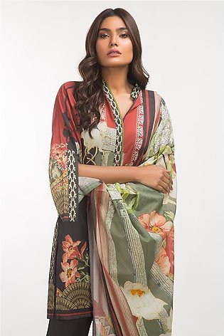 Gul Ahmed Lawn 3 PC Outfit IPS-19-82