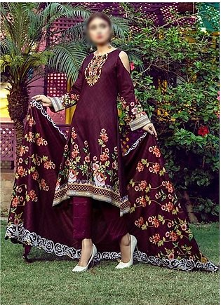 AL ZOHAIB Anum Lawn Collection Monsoon Lawn Collection MLC V-03 D-7B