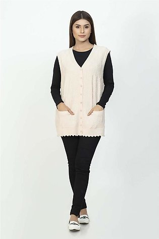 Bonanza Luxury Sweater L-Peach-Sando-Cardigan 19S-115-61-L-PEACH