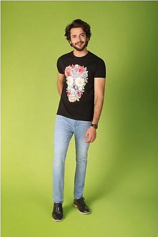 FLORAL SKULL GRAPHIC TEE S/S