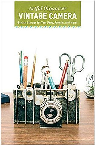 Artful Organizer: Vintage Camera: Stylish Storage for Your Pens, Pencils, and...
