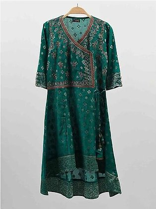 Embroidered Jacquard Frock
