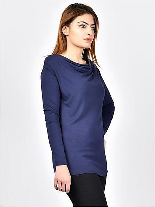 Top with Draped Neck