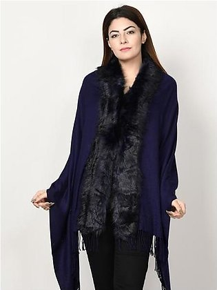 Faux Fur Cape Shawl