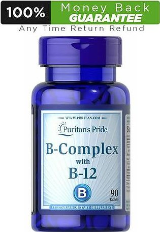 Puritan's Pride B-Complex With B-12 - 90 Tablets