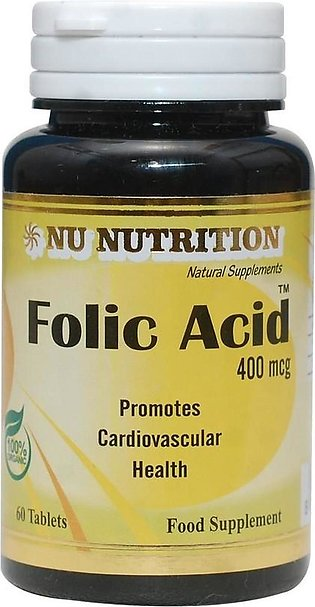 Nu Nutrition Folic Acid 400mcg 60 Tablets