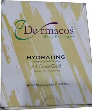 Dermacos Hydrating Rubbing Peel Off Mask 24K Gold (7 x 30g) Pack