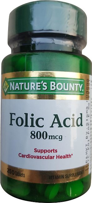 Natures Bounty Folic Acid 800mcg (250 Tablets)