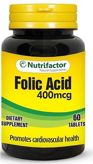 Nutrifactor Folic Acid 400 MCG 60 Tablets