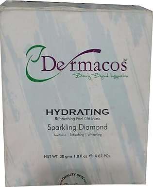 Dermacos Hydrating Rubbing Peel Off Sparkling Diamond Mask (7 x30 Grams) Pack
