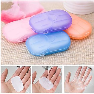 20PCS Portable Soap Paper Disposable Soap Paper Flakes Washing Cleaning Hand fo…