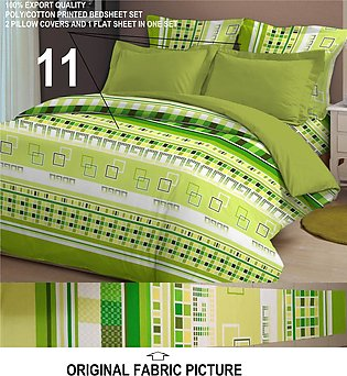 High Thread Count Soft Poly/Cotton Double Bed Set Bed Sheet – 3 Pcs