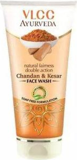 VLCC Ayurveda Double Action Chandan & Kesar Face Wash - 100ml