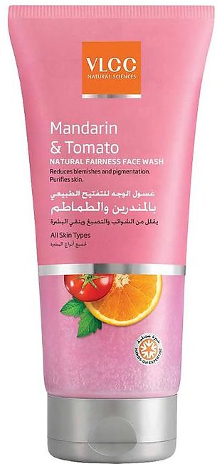 VLCC Mandarin & Tomato Natural Fairness Face Wash -150ml - 8906008459074