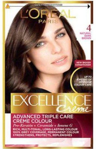 L`Oreal Excllence 4 Brown Chatain -0006 - 3061375116014