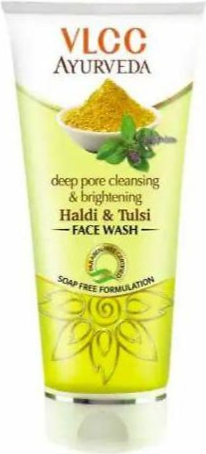 VLCC Deep Pore Cleansing & Brightening Haldi & Tulsi Face Wash - 150ml