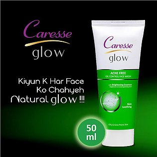 Caresse Glow Acne Free Oil Control Face Wash - 50ml