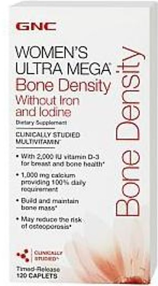 Women's Ultra Mega Bone Density- without iron and iodine -GNC in Pakistan
