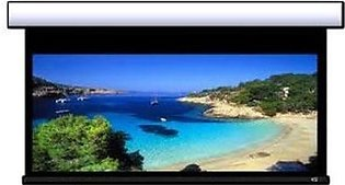 Motorized 10x8 Projector Screen Lucky Normal Fabric