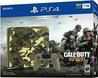 PlayStation 4 Slim 1TB Call of Duty WWII Bundle Limited Edition Console