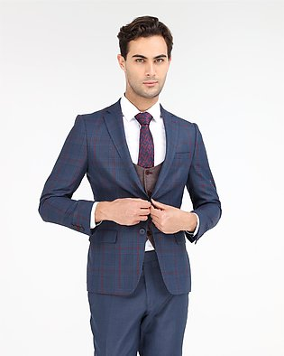 MADE IN TURKEY - CHECKERED SLIM FIT 3-PCS SUIT