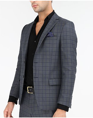 MADE IN TURKEY - CHECKERED SLIM FIT 2-PCS SUIT