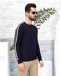 SWEATER WITH SLEEVE STRIPES