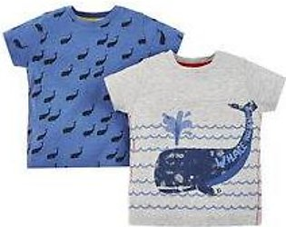 whale hello there t-shirts - 2 pack