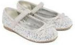 silver glitter ballerina shoes