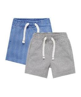blue and grey shorts - 2 pack