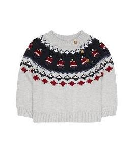 grey toy soldier christmas jumper