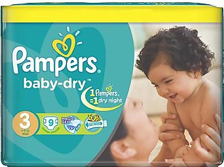 Pampers - Pampers Taped 4 To 9kg - 9Pcs
