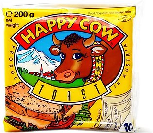 Happy Cow - Happy Cow Slice Cheese Toast (10 Slices) - 200gm