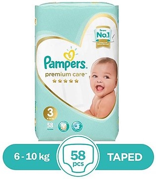 Pampers - Pampers Premium Taped 4 To 9kg - 72Pcs