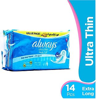 Always - Always Ultra Thin Extra Long Pads (Pack of 14)