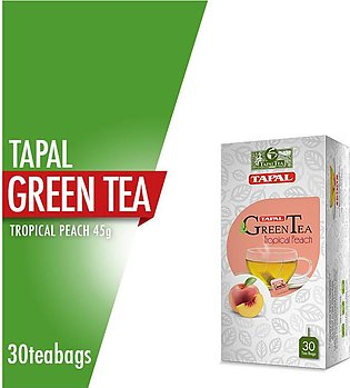 Tapal - Tapal Green Tea Tropical Peach (30 Tea Bags)