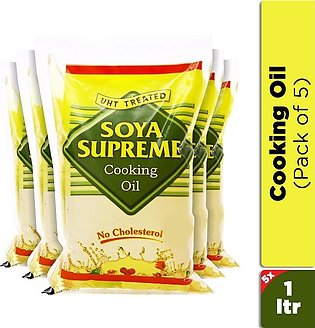 Soya Supreme - Soya Supreme Cooking Oil 1L (Pack of 5)