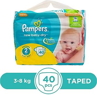 Pampers - Pampers Taped 3 To 8kg - 40Pcs