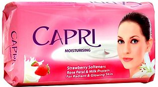Capri - Capri Moisturizing Strawberry Softeners Soap - 140gm