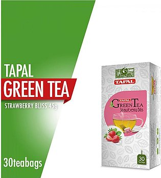 Tapal - Tapal Green Tea Strawberry Bliss Tea Bags (Pack of 30)