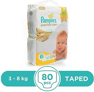 Pampers - Pampers Premium 3 To 8kg - 80Pcs
