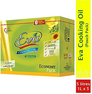 Eva - Eva Cooking Oil Pillow Pouch Carton (Pack of 5) - 5Ltr
