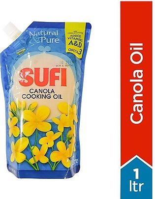 Sufi - Sufi Canola Cooking Oil Poly Bag - 1Ltr