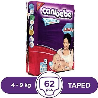 Canbebe - Canbebe Taped 4 To 9kg - 62Pcs