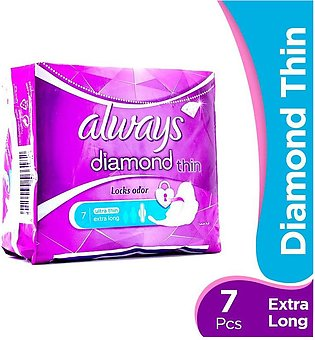 Always - Always Diamond Thin Extra Long Pads (Pack of 7)