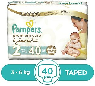 Pampers - Pampers Premium Taped 3 To 6kg - 40Pcs